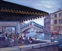 Alfresco, Venice by Henderson Cisz -  sized 48x40 inches. Available from Whitewall Galleries
